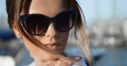 woman outside wearing sunglasses