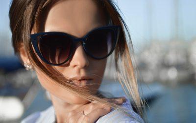 woman outside wearing sunglasses