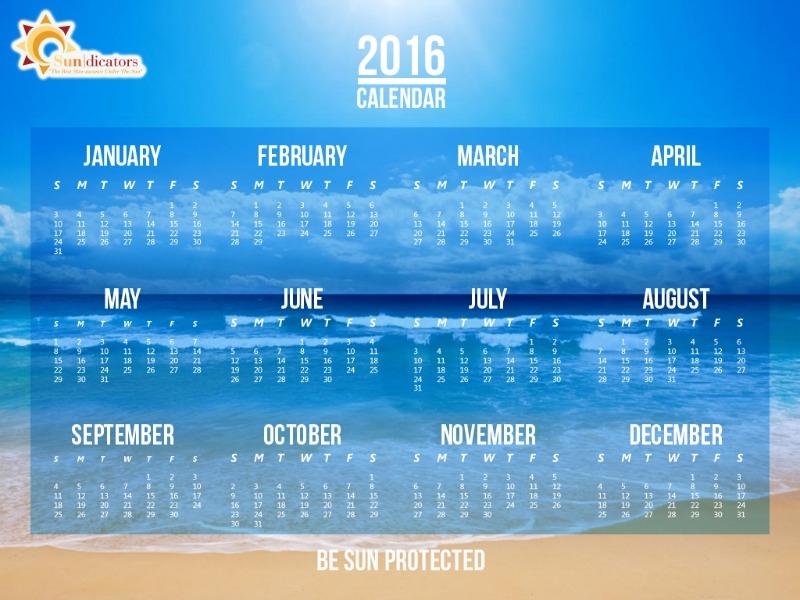 2016 Sundicators Calendar