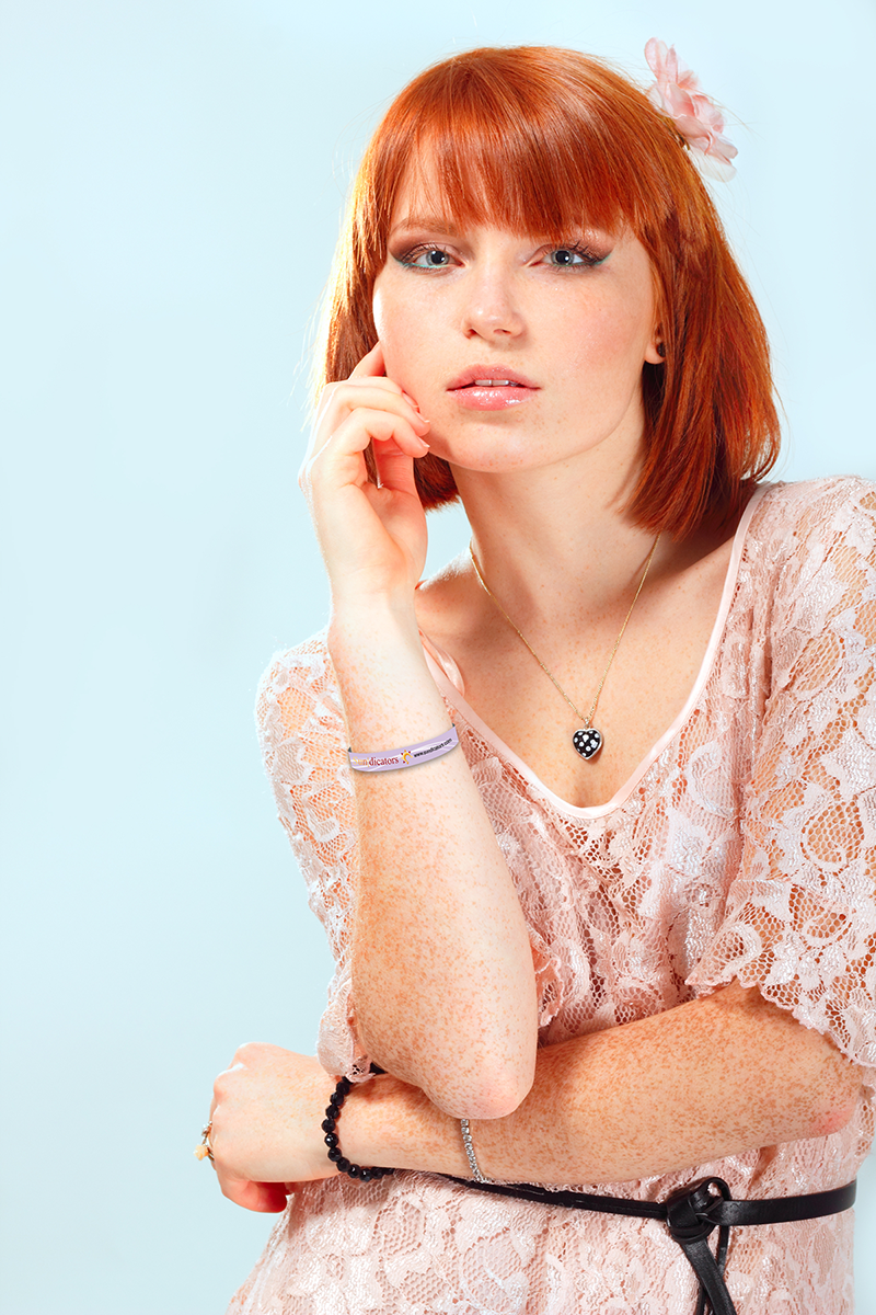 woman with fair skin and red hair